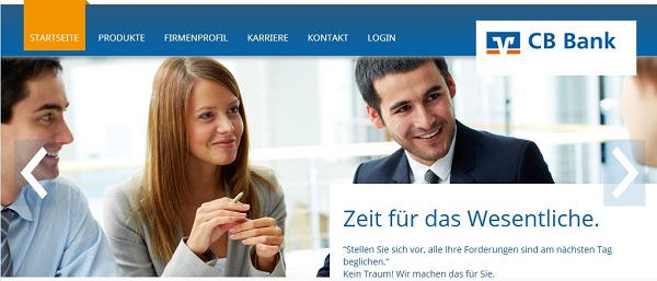 CB Bank Website