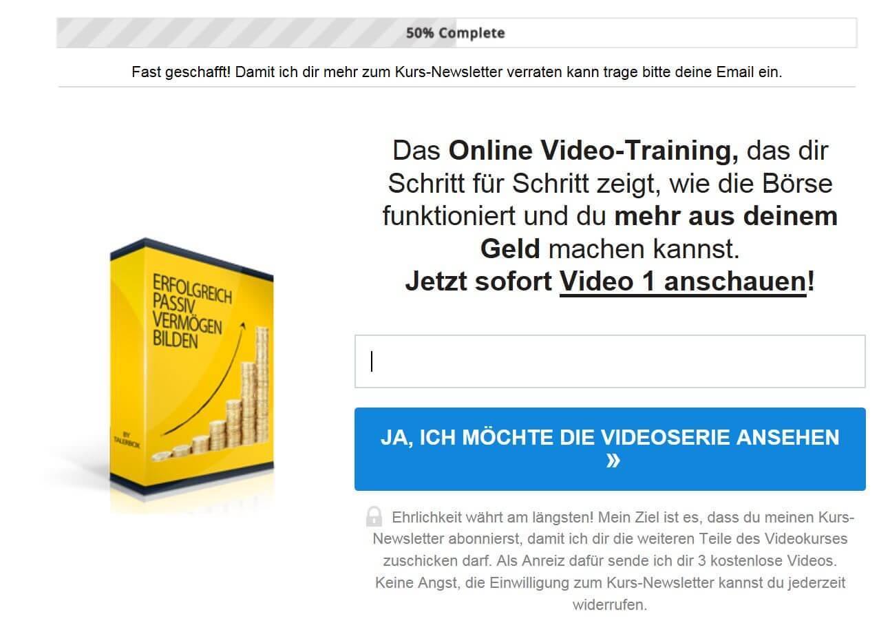 Talerbox Videokurs