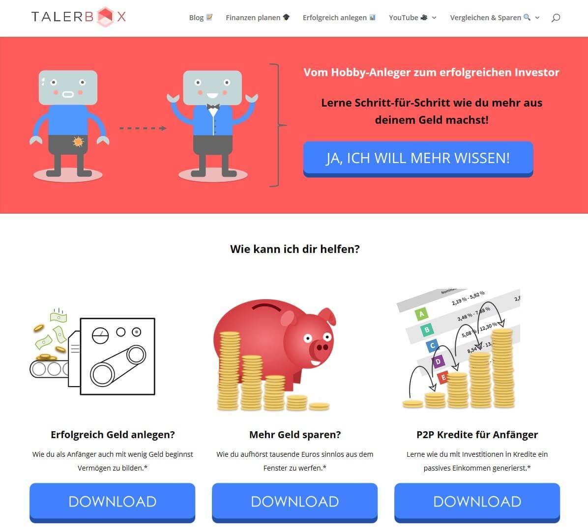 Talerbox.com | Smart Geld anlegen